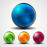 Abstract shiny circle button Stock Image