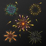 Abstract colorful fireworks background. Abstract shiny colorful fireworks background Stock Photo