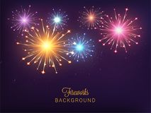Abstract colorful fireworks background. Abstract shiny colorful fireworks background Stock Photography