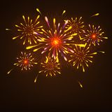 Abstract colorful fireworks background. Abstract shiny colorful fireworks background Royalty Free Stock Photo