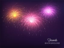 Abstract colorful fireworks background. Abstract shiny colorful fireworks background Royalty Free Stock Image