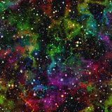 Abstract shiny colorful universe.  Rainbow colored nebula night starry sky.  Bright multicolor outer space. Abstract shiny colorful universe Stock Images