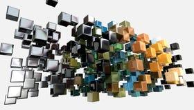 Abstract Shiny Cubes Stock Photo