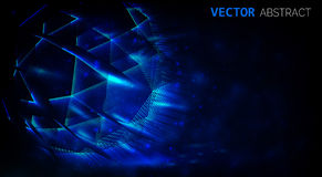 Abstract shiny dark background. Glowing abstract lights. Vector background Stock Images