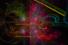 Abstract chaos effect explosion light vibrant explosion fantasy design curve. Abstract shiny digital fractal fantasy design background               vibrant vector illustration