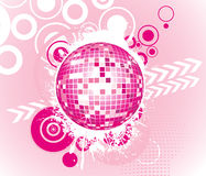 Abstract shiny disco ball background Royalty Free Stock Images
