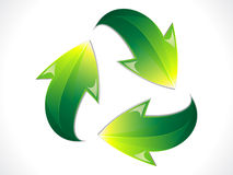 Abstract shiny eco recycle icon Stock Photo