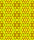 Abstract shiny floral pattern, Yellow and red tiled texture background, Seamless illustration Royalty Free Stock Photo