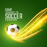 Abstract shiny football background with light effect. Illustration stock illustration