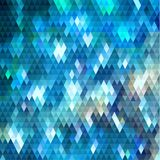 Abstract shiny geometric background with triangular pattern. Abstract blue triangles pattern geometric background with reflection lights Royalty Free Stock Photo