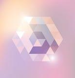 Abstract shiny gexagonal shape. Stock Photo
