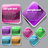 Abstract Shiny Glass Banner Red, green, blue. With Button Order Now Stock Photo