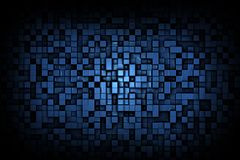 Abstract Dark Shiny or Glossy Blue 3d Geometric Small Cube Background Design Pattern. Abstract shiny or glossy dark blue geometric small cube or box shape Stock Image