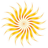 Abstract shiny glowing sunny shape Stock Photo