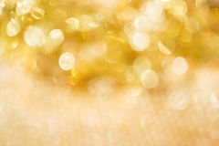 Abstract shiny gold bokeh background, Stock Image
