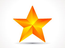 Abstract shiny golden 3d star icon. Vector illustration Stock Photos