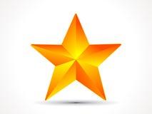 Abstract shiny golden 3d star icon. Vector illustration stock illustration