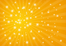 Abstract shiny golden background Stock Image