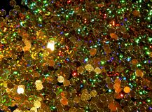 Abstract shiny golden background of Christmas shimmers royalty free stock photos