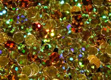 Abstract shiny golden background of Christmas shimmers stock images