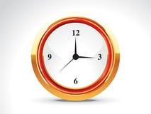 Abstract shiny golden clock Stock Photos