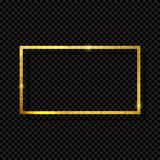 Abstract Shiny Golden Frame  Luxury  on Transparent Background. Vector Illustration. EPS10 Stock Images