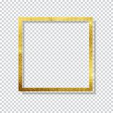 Abstract Shiny Golden Frame  Luxury  on Transparent Background. Vector Illustration. EPS10 Stock Photos
