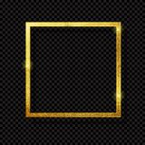 Abstract Shiny Golden Frame  Luxury  on Transparent Background. Vector Illustration. EPS10 Royalty Free Stock Photos