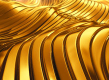 Abstract shiny golden wave background. Royalty Free Stock Photography