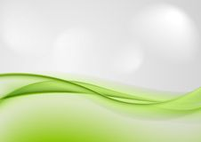 Abstract shiny green waves Royalty Free Stock Photos