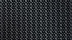 Abstract Shiny Hexagonal Metal Mesh in Black Background. Abstract seamless hexagonal metal texture in black background for website, banner, business card royalty free stock images