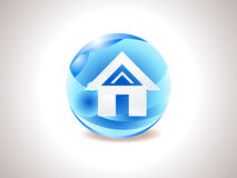 Abstract shiny home icon Royalty Free Stock Photos
