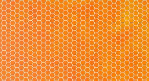 Abstract Shiny Honeycomb Texture in Orange Background. Abstract seamless hexagonal metal mesh or honeycomb texture in blurred orange background for website royalty free stock images