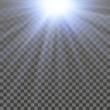 Abstract shiny light. With transparency effect Stock Photography