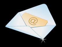 Abstract shiny mail icon Royalty Free Stock Images