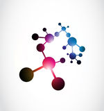 Abstract shiny molecule Royalty Free Stock Photo