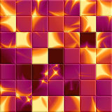Abstract shiny mosaic in fuchsia and yellow spectrum Stock Photo