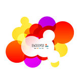 Abstract shiny orange bubbles Stock Image