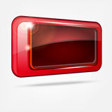 Abstract shiny red button Royalty Free Stock Photography