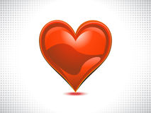 Abstract shiny red heart Stock Photo