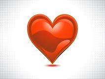 Abstract shiny red heart. Vector illustration Stock Photo