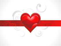 Abstract shiny red heart concept. Vector illustration Stock Images
