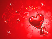 Abstract shiny red heart wallpaper. Vector illustration Royalty Free Stock Images
