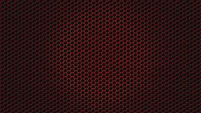 Abstract Shiny Red Hexagonal Metal Mesh in Black Background. Abstract seamless red hexagonal metal texture in black background for website, banner, business card royalty free stock photos