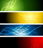 Abstract shiny sparkling vector banners Stock Image
