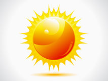 Abstract shiny sun icon Royalty Free Stock Image
