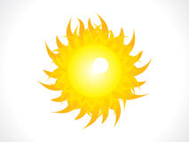 Abstract shiny sun icon Royalty Free Stock Photography