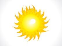 Abstract shiny sun icon Royalty Free Stock Photography