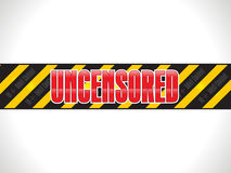 Abstract shiny uncensored warning tape Royalty Free Stock Photography