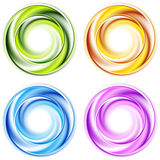 Abstract shiny vector circles Stock Images